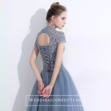 Load image into Gallery viewer, The Ariana Champagne / Blue / Red Tulle Lace Gown (Available in 3 Colours) - WeddingConfetti