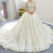 Load image into Gallery viewer, The Klassandra Wedding Bridal Sleeveless/Long Sleeves Gown - WeddingConfetti