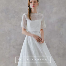 Load image into Gallery viewer, The Rachelle Wedding Bridal White Two Piece Dress - WeddingConfetti