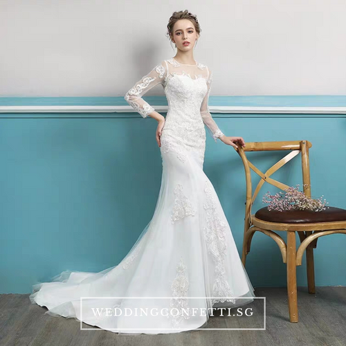 The Estique Wedding Bridal Long Sleeves Gown