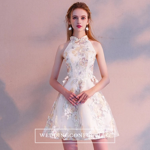 The Clara Cheongsam Mandarin Collar Short Dress - WeddingConfetti