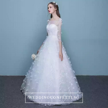 Load image into Gallery viewer, The Patrina Wedding Bridal Long Illusion Sleeves Gown - WeddingConfetti