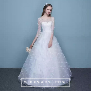 The Patrina Wedding Bridal Long Illusion Sleeves Gown