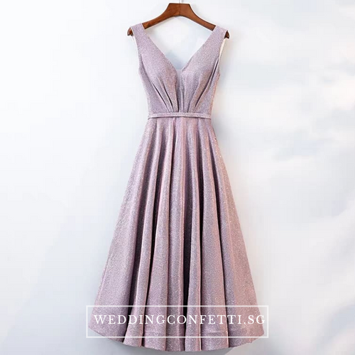 The Cailey Iridescent Sleeveless Gown - WeddingConfetti