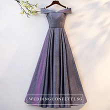 Load image into Gallery viewer, The Cailey Iridescent Off Shoulder Gown - WeddingConfetti