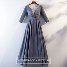 Load image into Gallery viewer, The Cailey Iridescent Long Sleeves Gown (Available in 4 colours) - WeddingConfetti
