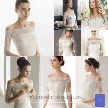 Load image into Gallery viewer, Wedding Bridal Overlay (Long Sleeves)
