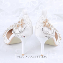 Load image into Gallery viewer, Wedding Floral Crystal Heels