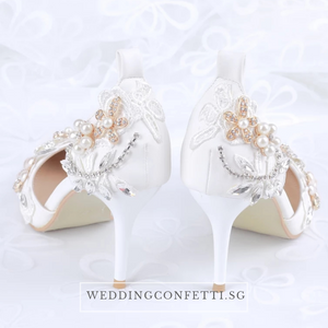 Wedding Floral Crystal Heels