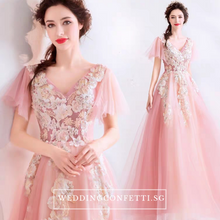 Load image into Gallery viewer, The Ansella Tulle Pink Gown - WeddingConfetti