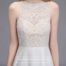 Load image into Gallery viewer, The Isabel Wedding Bridal Lace Off White Sleeveless Dress - WeddingConfetti