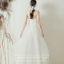 Load image into Gallery viewer, The Verity Wedding Bridal Satin Sleeveless Gown - WeddingConfetti