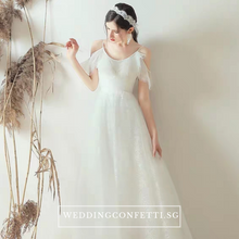 Load image into Gallery viewer, The Viveca Wedding Bridal Off Shoulder Dress - WeddingConfetti