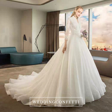 Load image into Gallery viewer, The Kaytlyn Wedding Bridal Long Sleeves Gown - WeddingConfetti