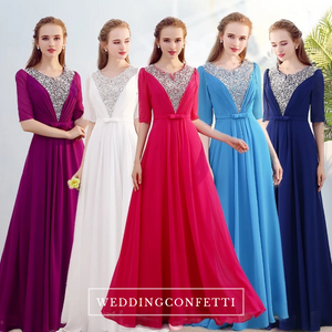 The Kassandra Wedding Bridal Purple / Red / White / Navy Blue / Sky Blue Bridesmaid Dress - WeddingConfetti