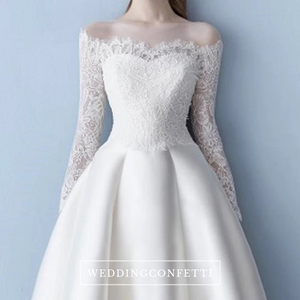 The Odessa Wedding Off Shoulder White Gown - WeddingConfetti