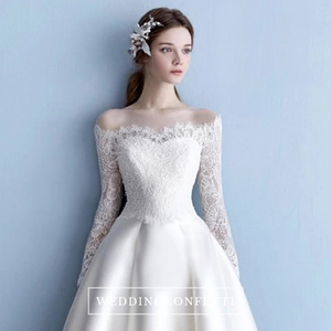 The Odessa Wedding Off Shoulder White Gown