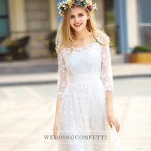 Load image into Gallery viewer, The Lelaine Bohemian White Dress - WeddingConfetti