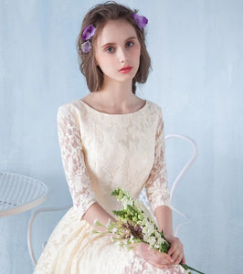 The Raynee Long Sleeves Illusion Lace Dress (Available in 3 Colours) - WeddingConfetti