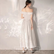Load image into Gallery viewer, The Aleia Wedding Bridal Off Shoulder Dress - WeddingConfetti