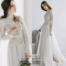 Load image into Gallery viewer, The Lorde Bohemian High Neck Bridal Gown - WeddingConfetti