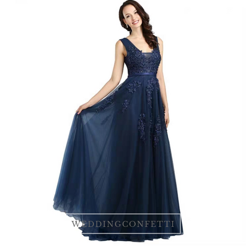The Serena Tulle Sleeveless Gown