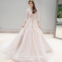 Load image into Gallery viewer, The Pearlie Wedding Bridal Long Sleeve Lace Gown - WeddingConfetti