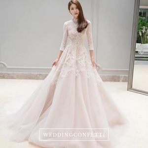 The Pearlie Wedding Bridal Long Sleeve Lace Gown - WeddingConfetti