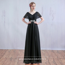 Load image into Gallery viewer, The Klaris Short Sleeves Chiffon Dress - WeddingConfetti