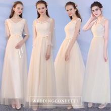 Load image into Gallery viewer, The Lorraine Grey / Champagne Bridesmaid Dress (Available in 2 colours) - WeddingConfetti