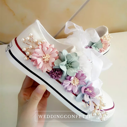 Wedding Bridal Floral Sneakers (Available in 2 colours) - WeddingConfetti