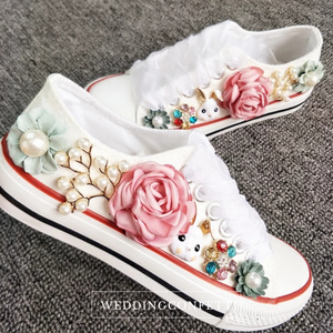 Wedding Bridal Floral Sneakers