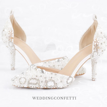 Load image into Gallery viewer, Wedding Bridal Crystal Heels - WeddingConfetti
