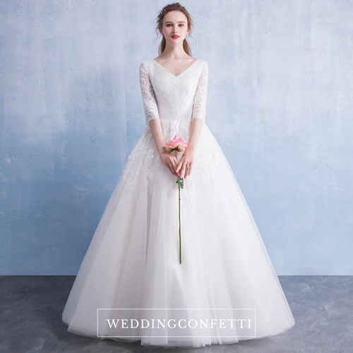 The Patsy Wedding Bridal Long Sleeves Gown - WeddingConfetti