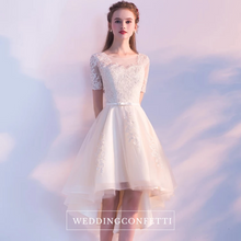 Load image into Gallery viewer, The Liestte Pink / Champagne Lace Dress - WeddingConfetti