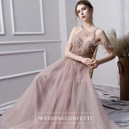 The Payton Wedding Bridal Pink Tulle Gown - WeddingConfetti