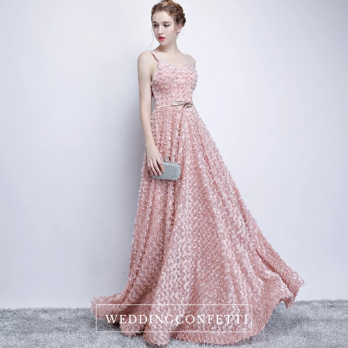 The Kerlaine Pink Sleeveless Gown - WeddingConfetti