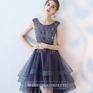 The Cecil Blue Hi Low Sleeveless Dress - WeddingConfetti
