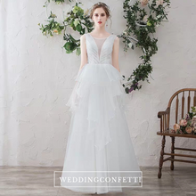 Load image into Gallery viewer, The Colbie Wedding Bridal Sleeveless Dress - WeddingConfetti