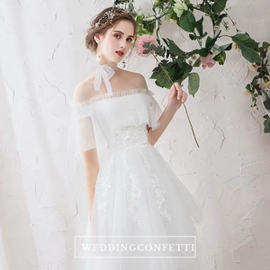 The Primrose Wedding Bridal Bohemian Off Shoulder Gown - WeddingConfetti
