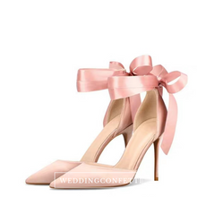 Load image into Gallery viewer, Wedding Bridal Ribbon Heels (Available in 3 colours) - WeddingConfetti