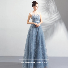 Load image into Gallery viewer, The Kera Blue Sleeveless Gown - WeddingConfetti