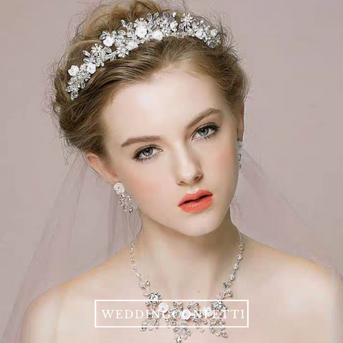 Bridal Hair Crown And Necklace - WeddingConfetti