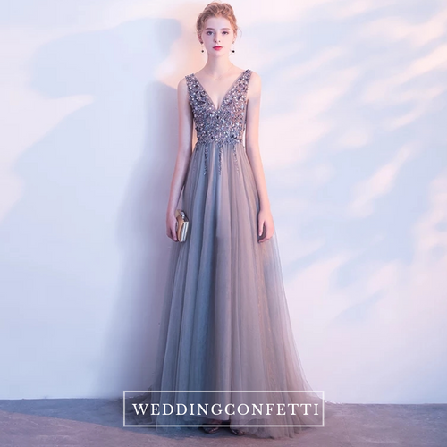 The Sophiela Glittery Sleeveless Sequins Gown (Available in 2 colours) - WeddingConfetti