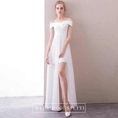 The Layleen Off Shoulder White Dress - WeddingConfetti