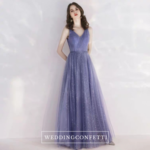 The Canopus Blue Sleeveless Star Gown - WeddingConfetti