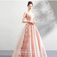 Load image into Gallery viewer, The Merlysaa Coral Sleeveless Gown - WeddingConfetti