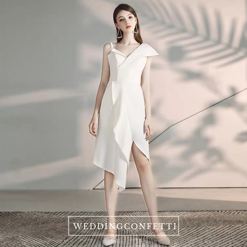 The Cindy Origami Structured White Dress - WeddingConfetti