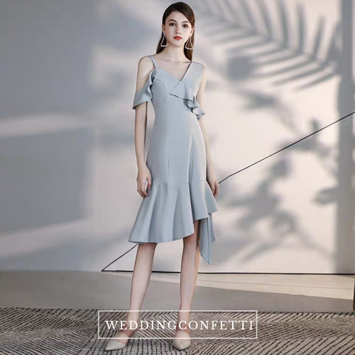 The Mindy Grey Structured Dress - WeddingConfetti