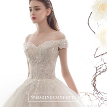 Load image into Gallery viewer, The Claris Wedding Bridal Tulle Off Shoulder Gown - WeddingConfetti
